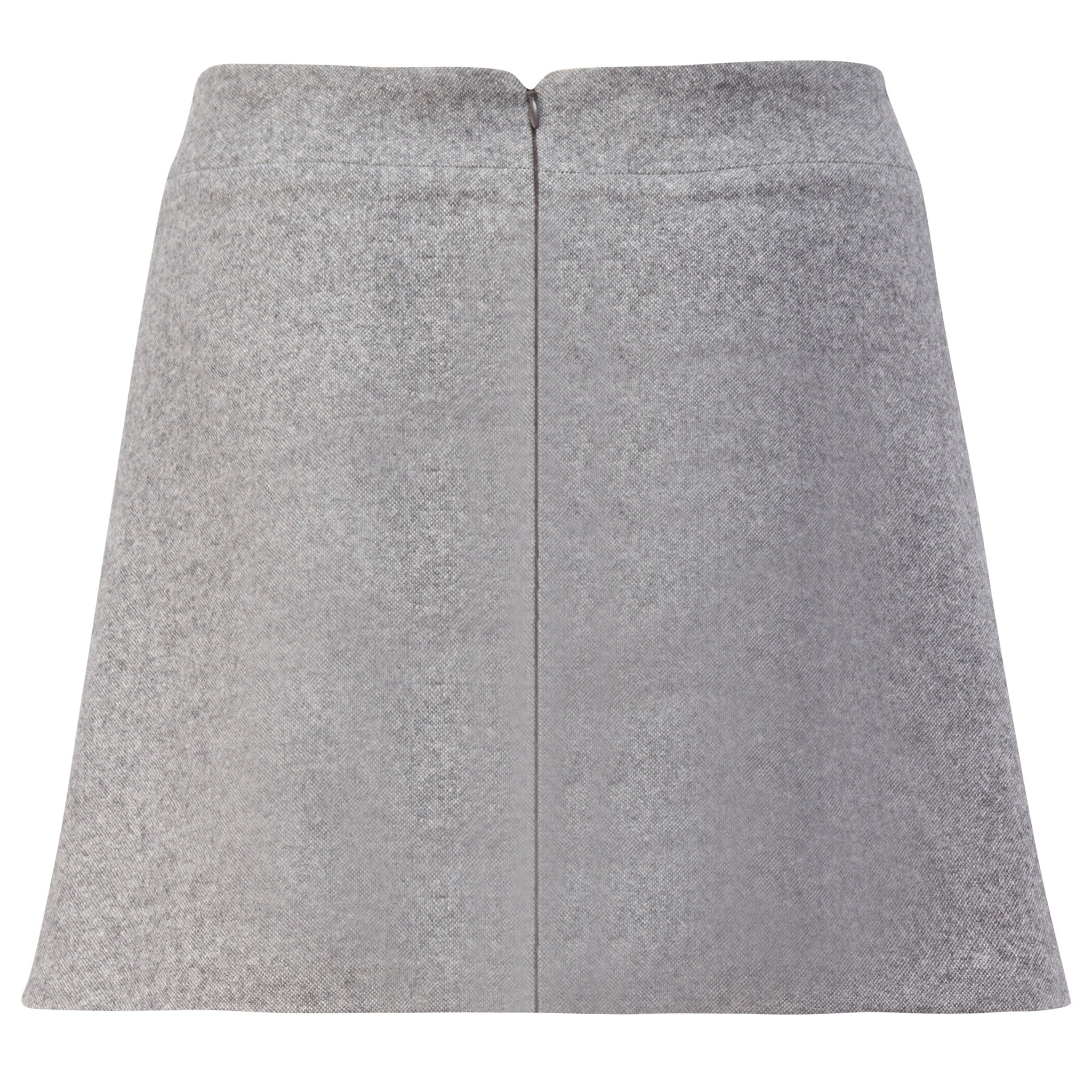 Dove-Grey Wool A-Line Skirt