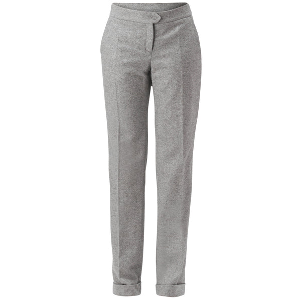Dove-Grey Tailored Wool Pants