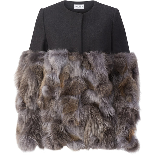 Melton-Wool and Fur Jacket