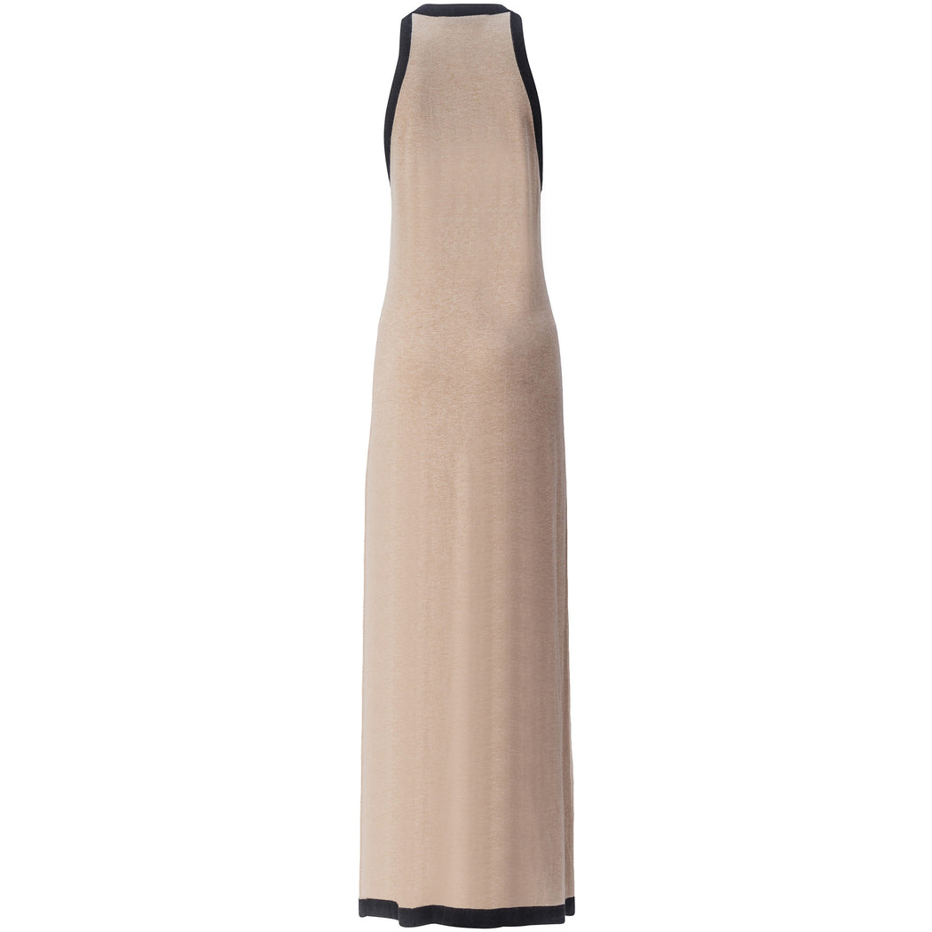 Silk-Cashmere Halter Maxi Dress
