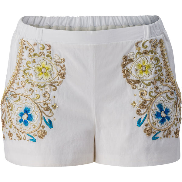 Embroidered Cotton Runner Shorts