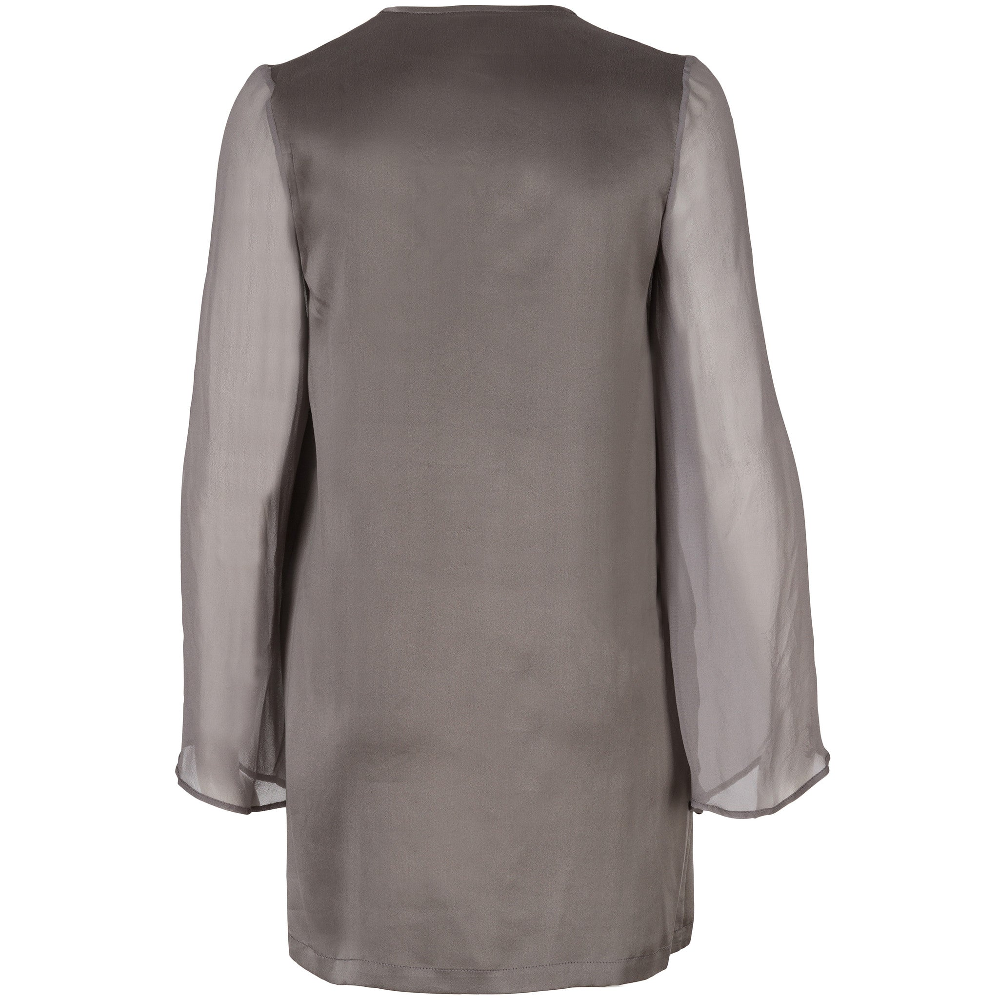 Grey Sueded-Silk Top