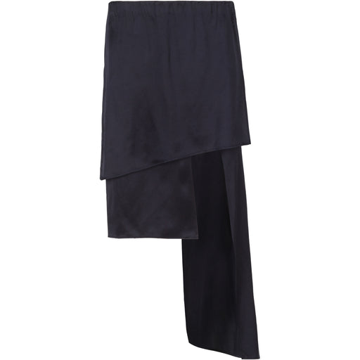 Sueded Silk Asymmetrical Skirt