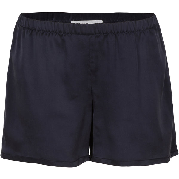 Flared Silk Shorts