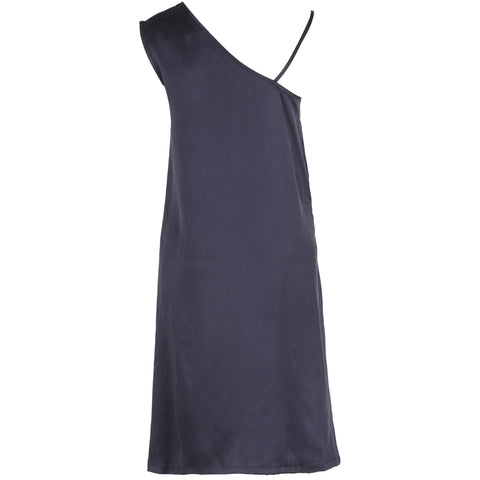 Asymmetrical Sueded Silk Slip Top