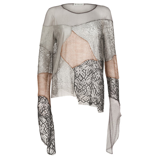 Mixed Lace Patchwork Top