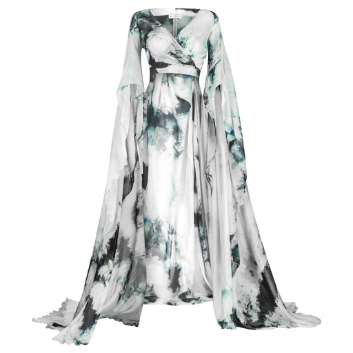 Silk Chiffon Cape Top