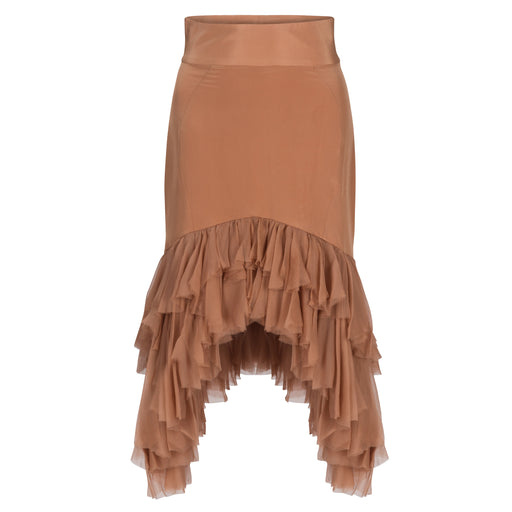 High-Waisted Ruffle Skirt