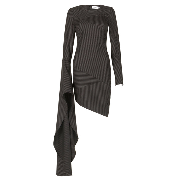 Asymmetric Suiting Dress
