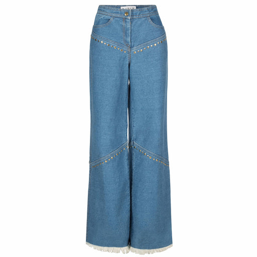90's Wide-Leg Denim Pants