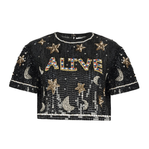 ALIVE Embroidered Crop Tee