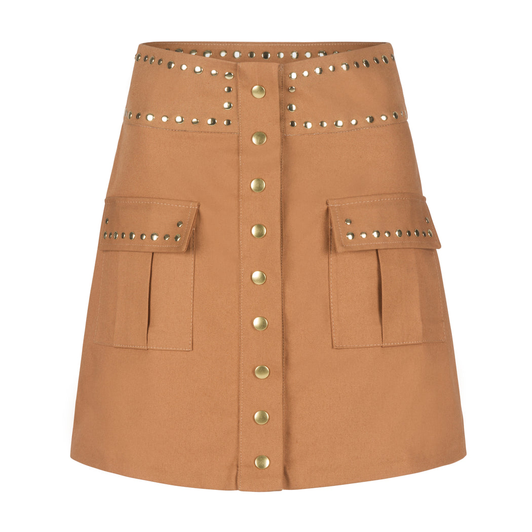 Military High Waisted Skirt