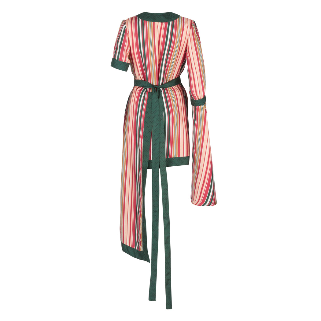 Striped Robe Dress