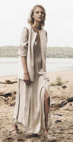 Irish Linen Shirt-Dress