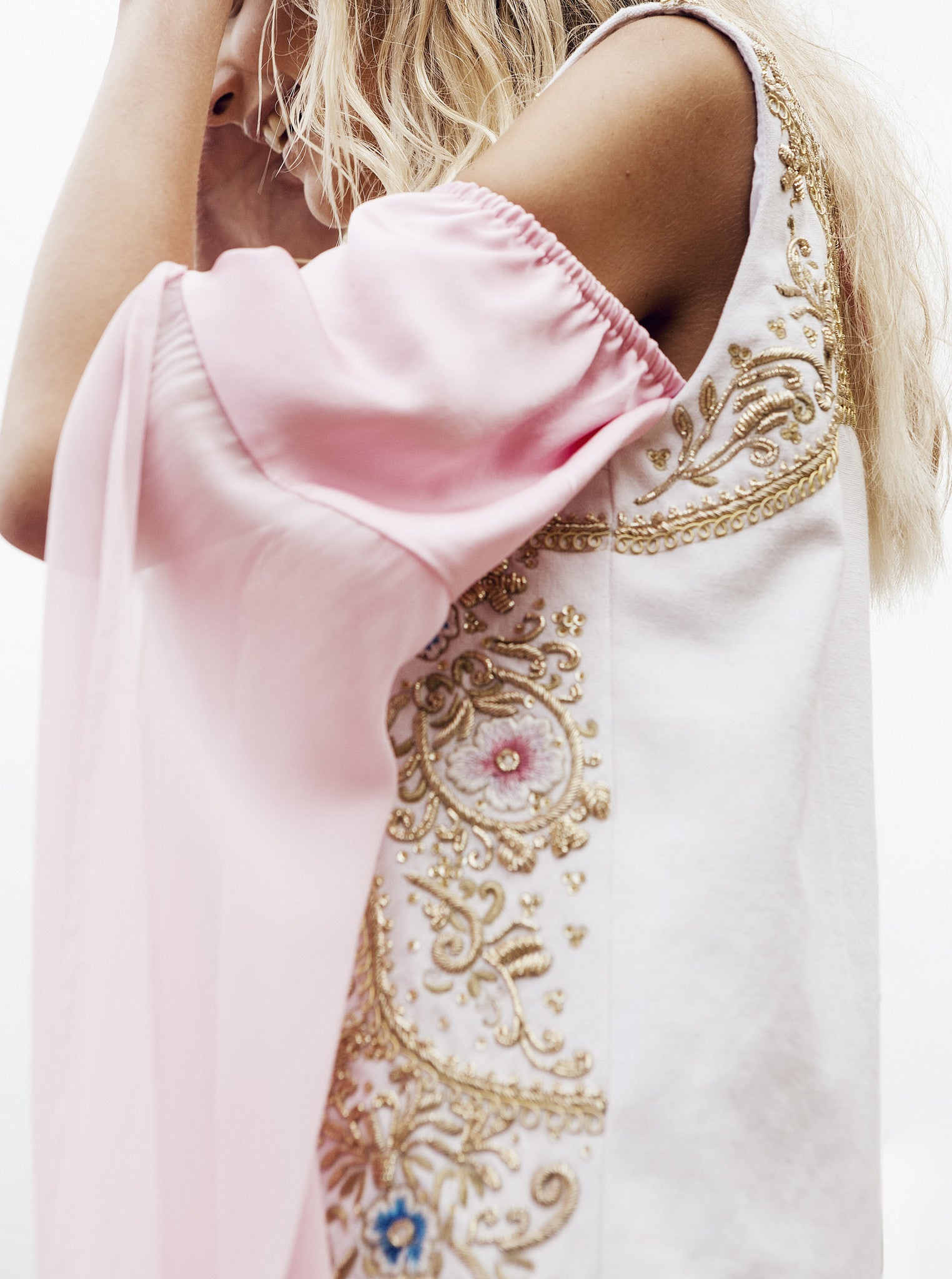 Embroidered Floral Vest