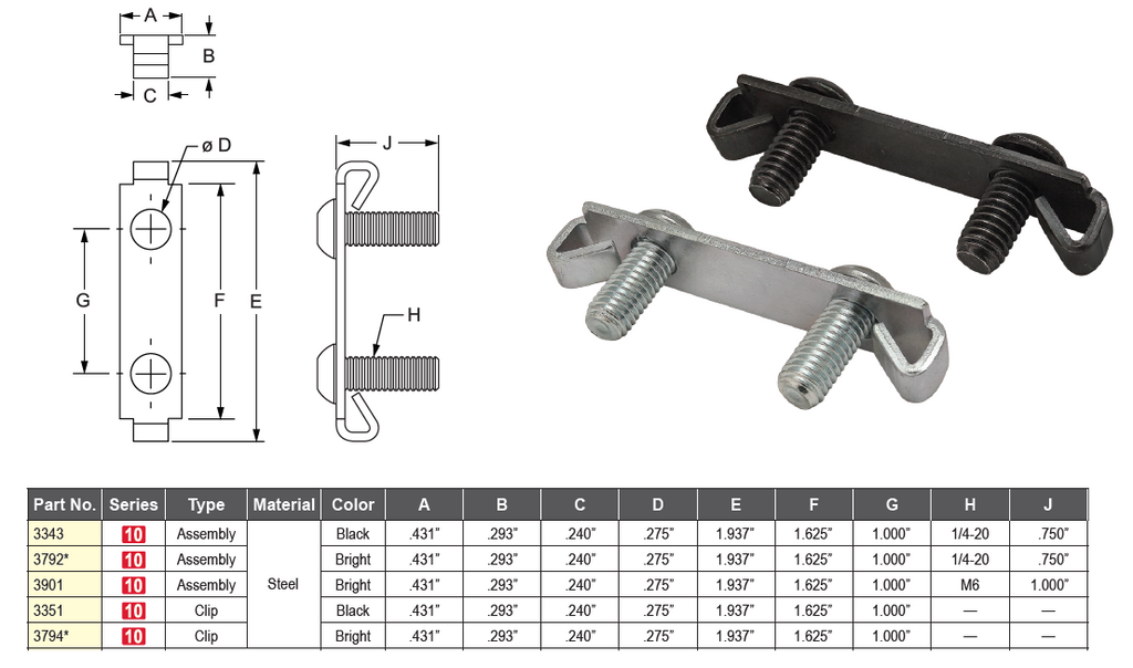 Double End Fastener for 10 Series