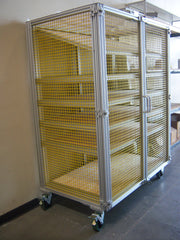 Security enclosure by F&L Industrial Solutions using 80/20 t-slots