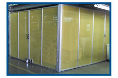 Large 8020 enclosure with wire mesh by F&L Industrial Solutions