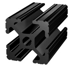 80/20 1010-Full Black t-slot aluminum extrusion