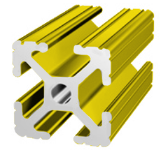 80/20 1010 Yellow t-slot aluminum extrusion