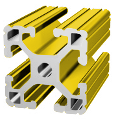 1515-L Yellow T-slot Extrusion - Custom Length