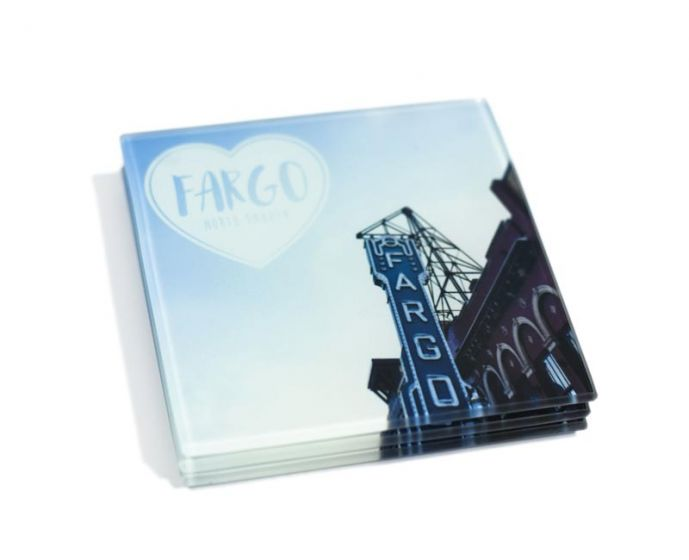 Coasters - Square Glass - Fargo Theater (4 pack)