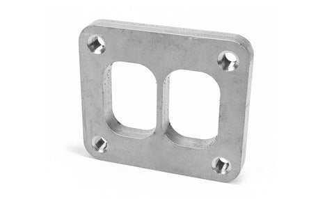 Squirrelly Performance T4 Divided Inlet Flange / 304 Stainless Steel