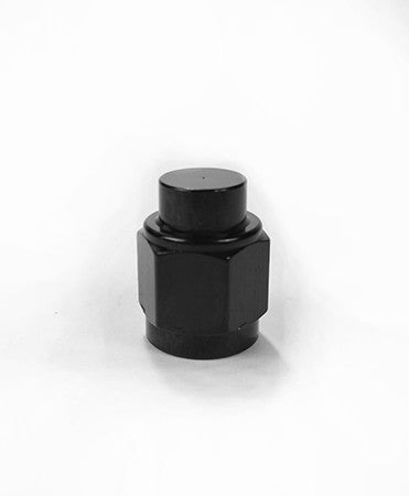 Squirrelly Performance AN Cap | -6an with 1/8NPT Port | Black