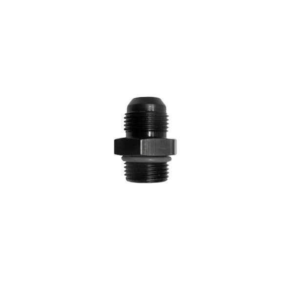 Squirrelly Performance Union Fitting | -12an to -12an ORB | Black
