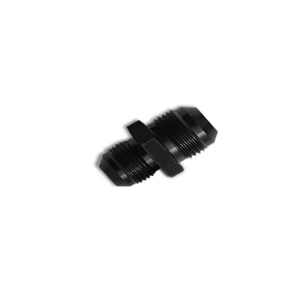 Squirrelly Performance Reducer Union Fitting | -8an to -6an | Black