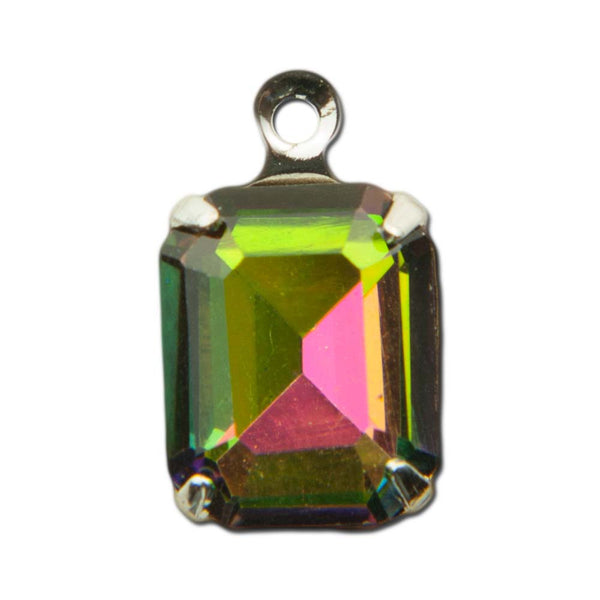 Faceted Vitrail Glass Octagon 10x8mm