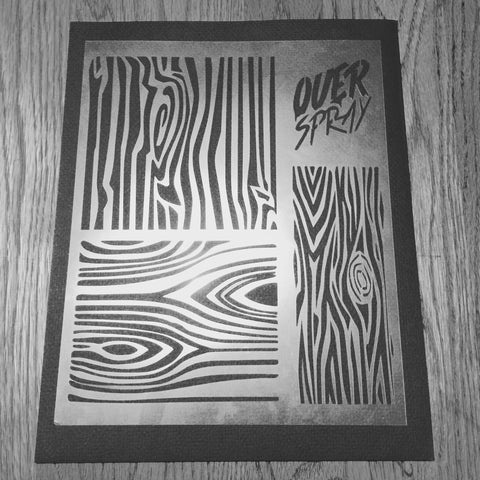 Reusable Wood Grain Stencil