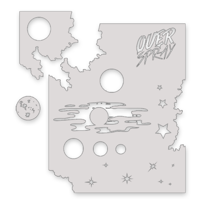 Reusable Galaxy Stencil Kit