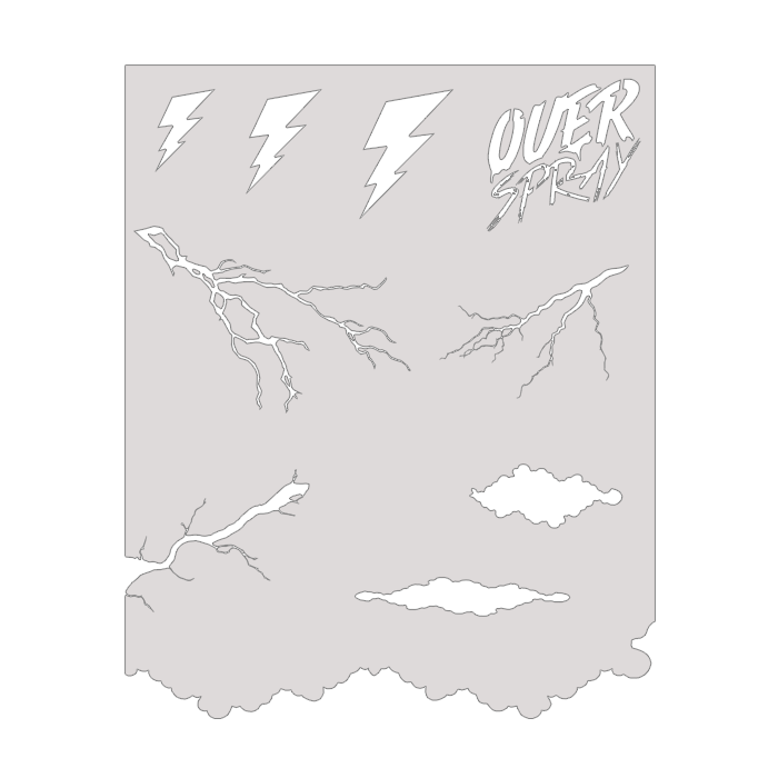 Reusable Lightning Stencil Kit