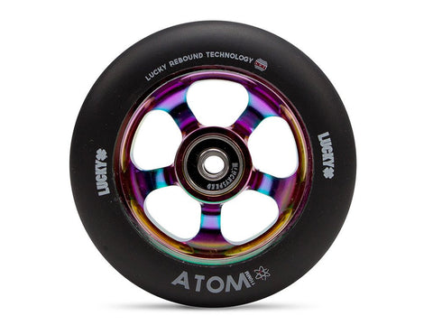 2017 Lucky ATOM 110mm Pro Scooter Wheel - Black/NeoChrome