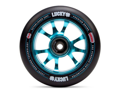2017 Lucky TOASTER 110mm Pro Scooter Wheel - Black/Teal