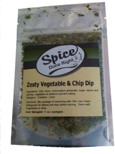 Zesty Vegetable Dip - Spice Done Right