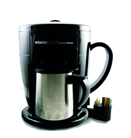 Power Hunt Renewable Energy 12 Volt DC 1 Cup Coffee Maker 25A/up to 350W, works with Power Hunt power strip or power port