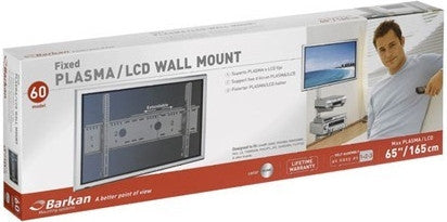 "Barkan 60 Plasma / LCD Wall Mount, Fixed,  for Max TV: 65"" Max weight 187lbs/85kgs"