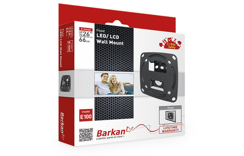 "Barkan E100 LED/ LCD Wall Mount Fixed Fits up to 26""/66 cm"