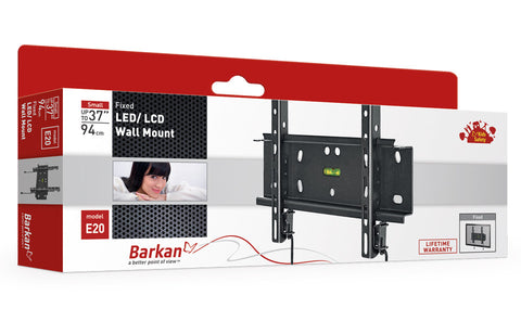 "Barkan E20 LED/ LCD, Wall Mount, Fixed, Fits up to 37""/94 cm"