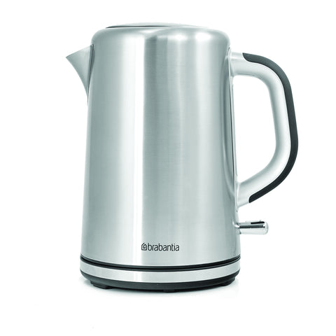 Brabantia 3000W 1.7Lt Cordless Stainless Steel Kettle with Soft Grip Handle