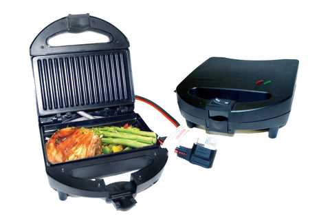 Power Hunt Renewable Energy 12 Volt DC Griddle 45A/up to 600W, works with Power Hunt power strip or power port