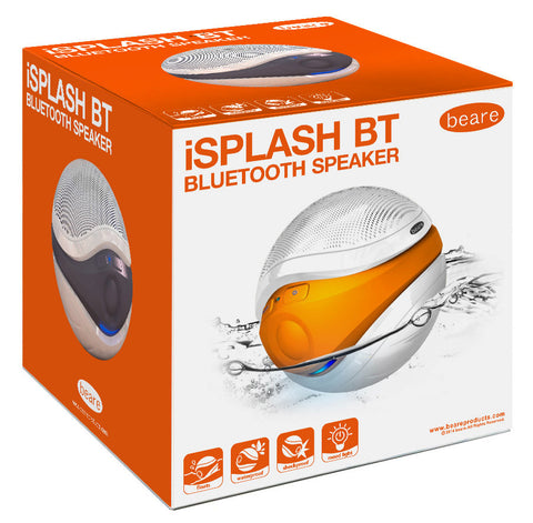 Eric Beare iSplash Floating Bluetooth Speaker, rated IPX7 waterproof for use outdoor, in the SPA, Bath, swimming pool.
