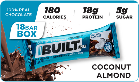 Built Bars, Coconut Almond (18 bars)