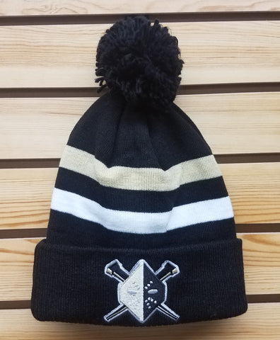 Nailers CCM Black Knit Hat with Pom