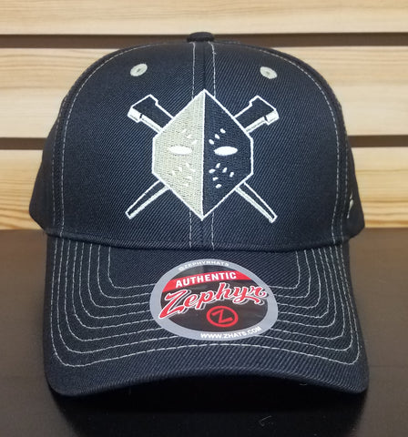 Wheeling Nailers Zephyr Black Adjustable Hat