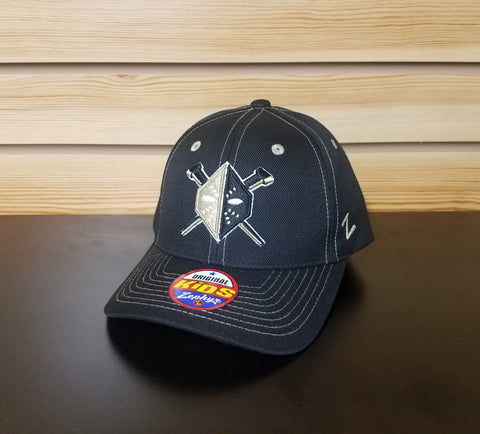 Wheeling Nailers Zephyr Black Adjustable Youth Hat
