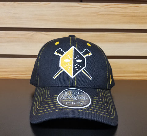 Wheeling Nailers Zephyr Yellow Mask Snap Back Hat