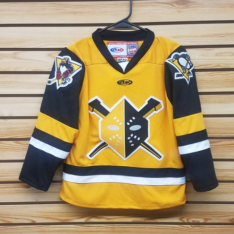 Wheeling Nailers Athletic Knit Youth Yellow Replica Jersey